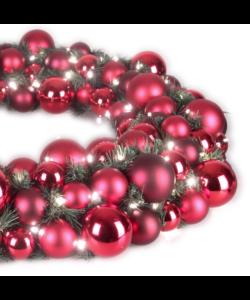 Luxury Wreath Warm Bordeaux 2.5ft-1278