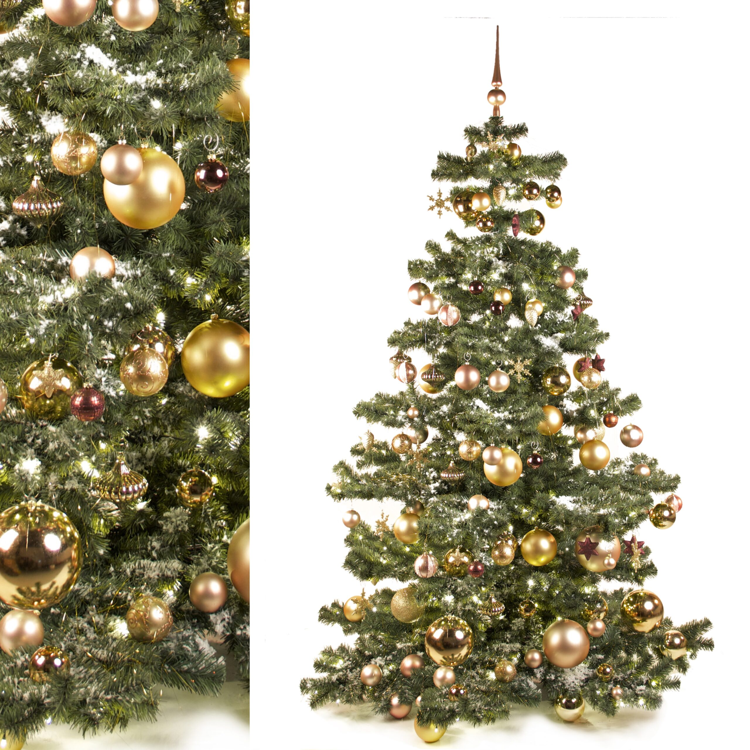 Decoration Package For A 7 Ft Christmas Tree Gold Xmasdeco Uk